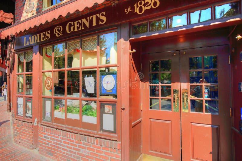 Pubs en el puerto de Boston y el mercado del sur fotos de archivo libres de regalías