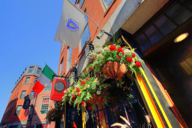 Pubs en el puerto de Boston y el mercado del sur foto de archivo