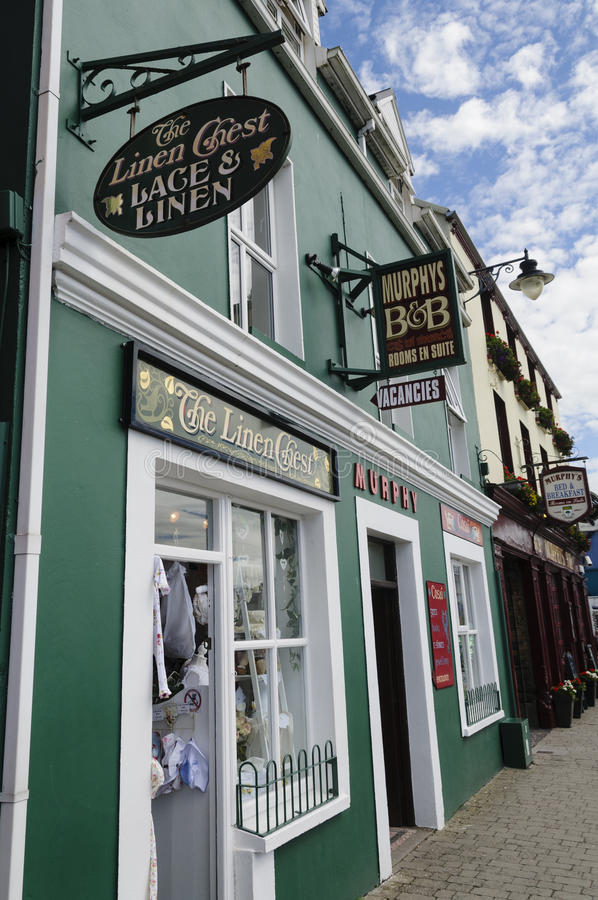 Pubs and shops in Ireland. DINGLE, IRELAND: Pubs and shops in Ireland stock photography