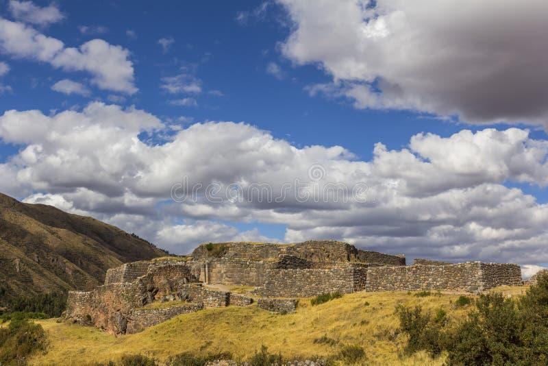 Puca Pucara fördärvar Cuzco Peru royaltyfri foto