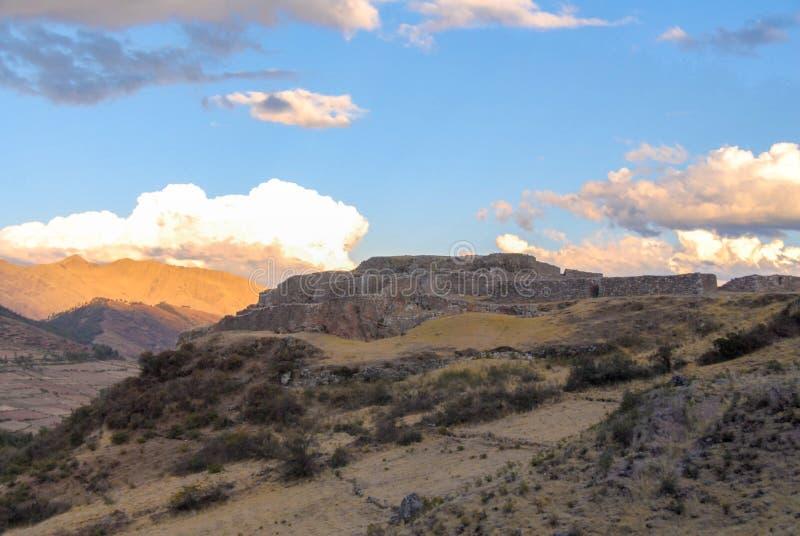 Puca Pucara, Inca-ruïnes - Cuzco, Peru royalty-vrije stock foto's
