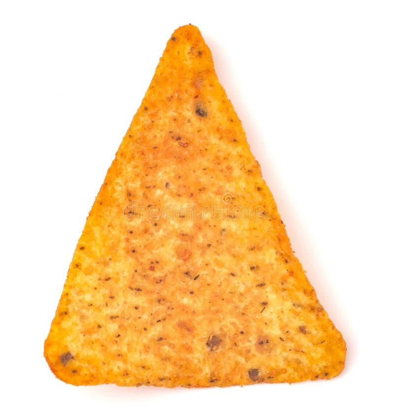 Puce de maïs simple de fromage sur un fond blanc photos stock