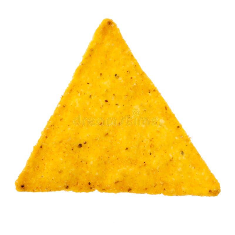 Puce de tortilla simple d'isolement photographie stock libre de droits