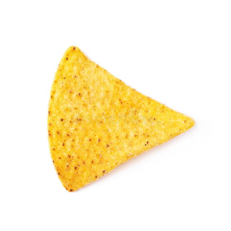 Puce de tortilla simple de maïs d'isolement image libre de droits