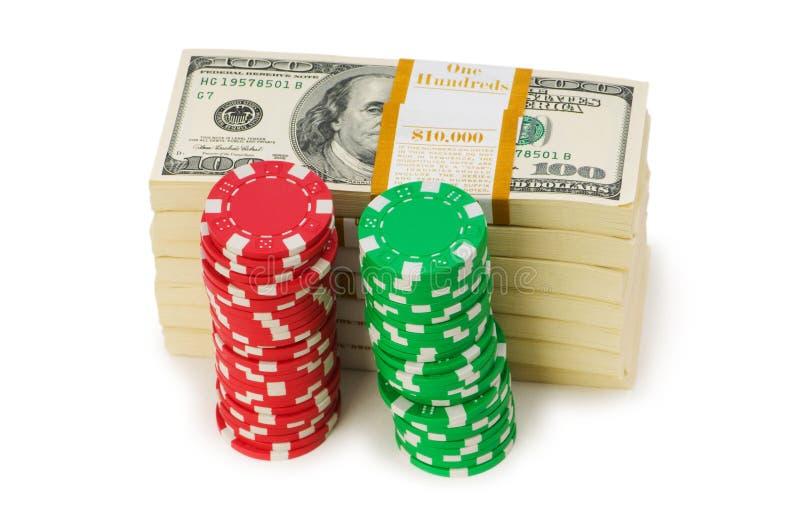 Puce du dollar et de casino photos stock