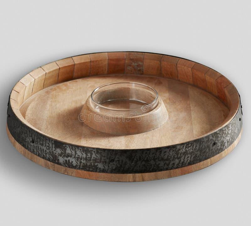 PUCE SUPÉRIEURE et IMMERSION de BARIL en bois naturel image libre de droits