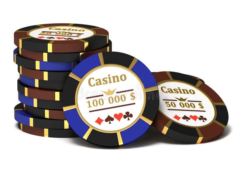 Puces de casino illustration stock