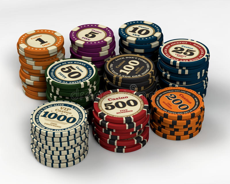 Puces de casino illustration stock