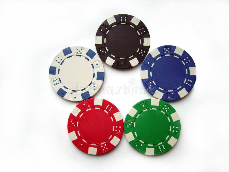 Puces de casino photos libres de droits