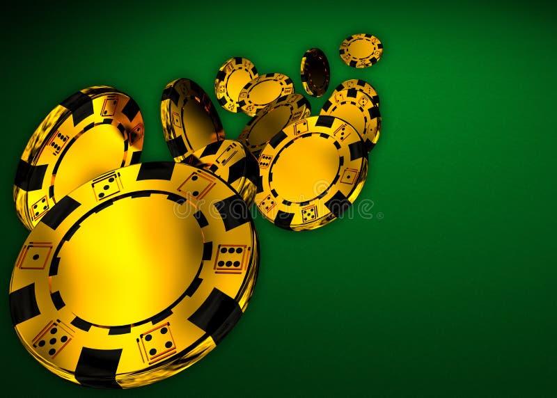 Puces de casino illustration libre de droits