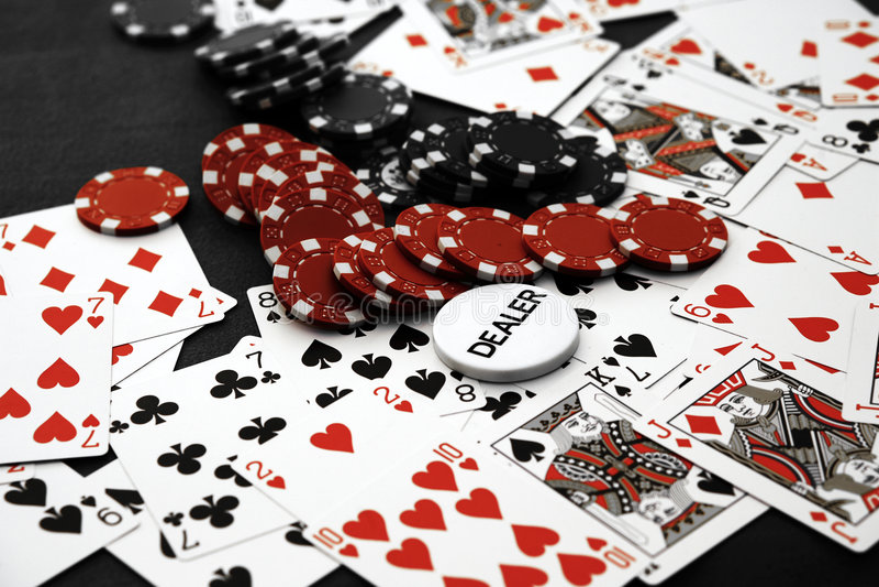 puces de casino images stock