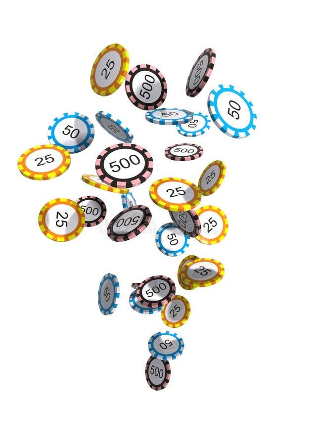 Puces de casino de vol illustration de vecteur