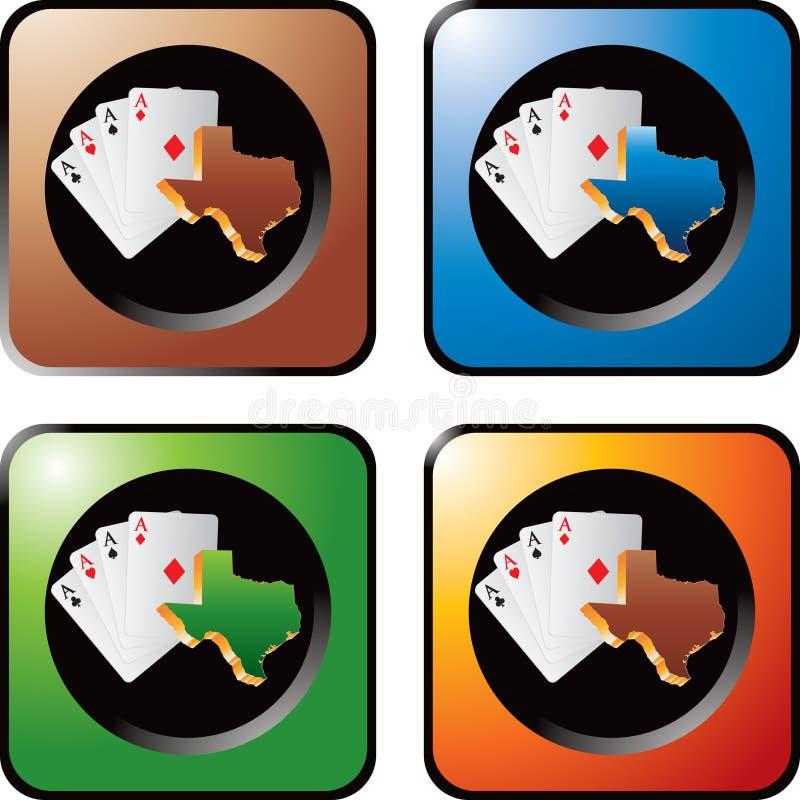 Puces de casino sur les boutons multicolores de Web illustration de vecteur