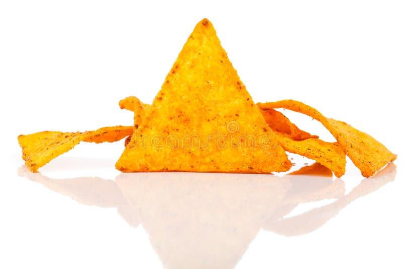 Puces de maïs de Nachos images stock