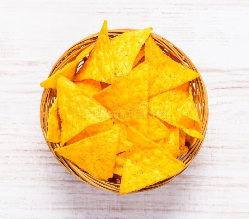 Puces de maïs de tortilla images stock