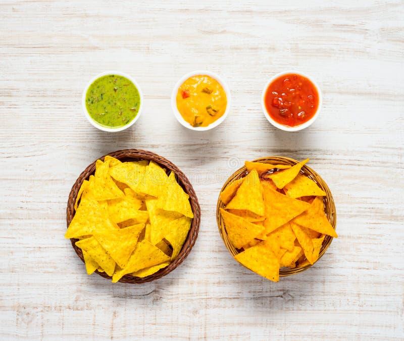 Puces de maïs de tortilla avec l'immersion photo libre de droits