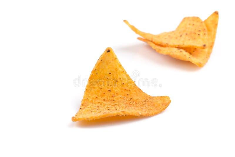 Puces de nachos de maïs photographie stock libre de droits