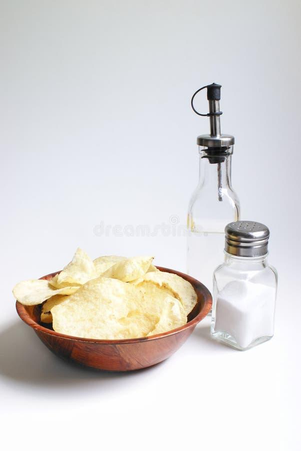 Puces de sel et au vinaigre photographie stock