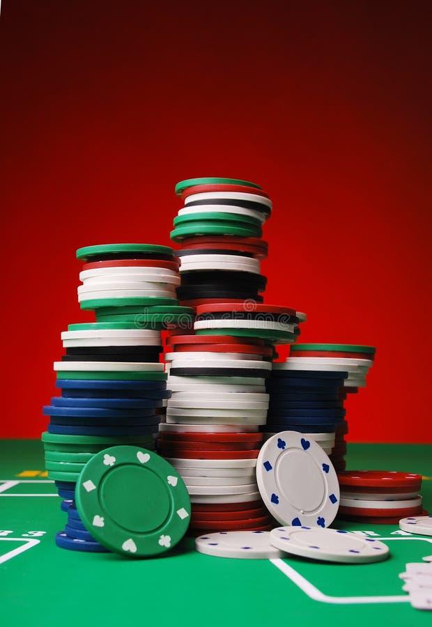 Jetons de poker photo libre de droits