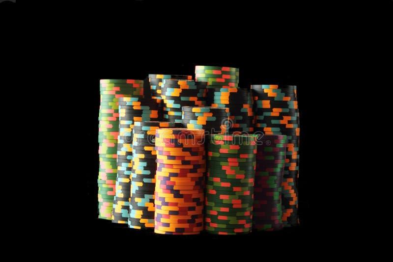 Puces de tisonnier de casino photo stock