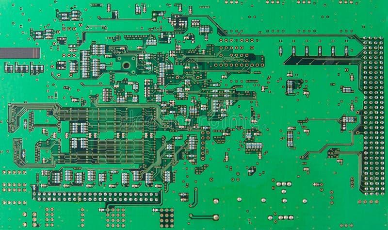 Puces et composants avec la carte électronique photo libre de droits