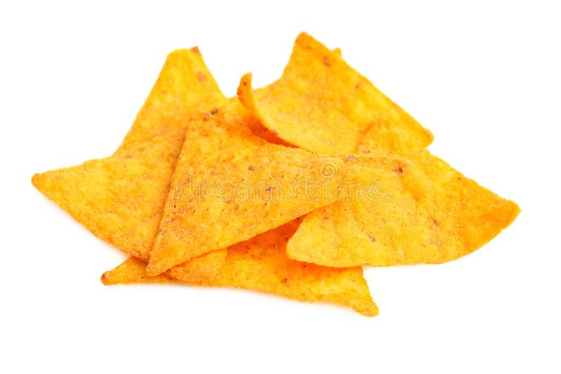 Puces mexicaines de nachos de casse-croûte images libres de droits