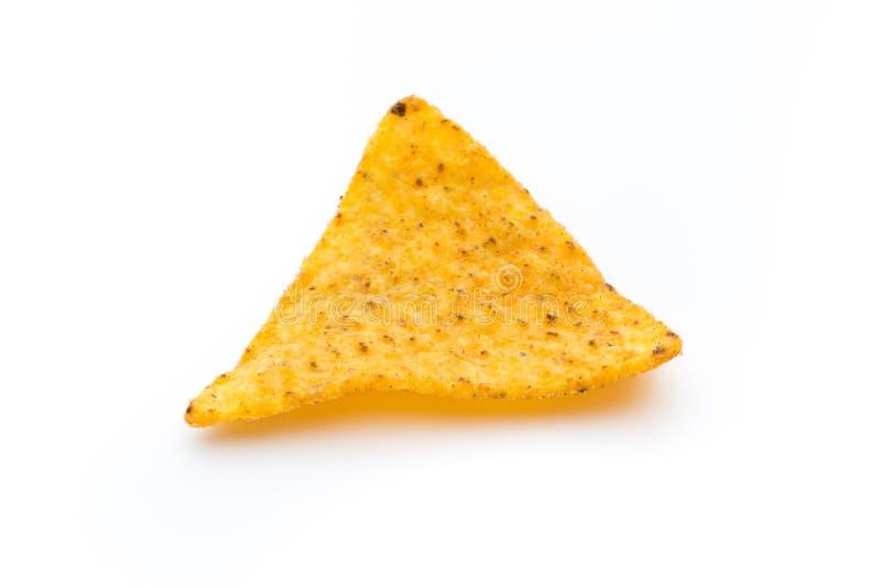Puces mexicaines de nachos, d'isolement sur le fond blanc photographie stock libre de droits