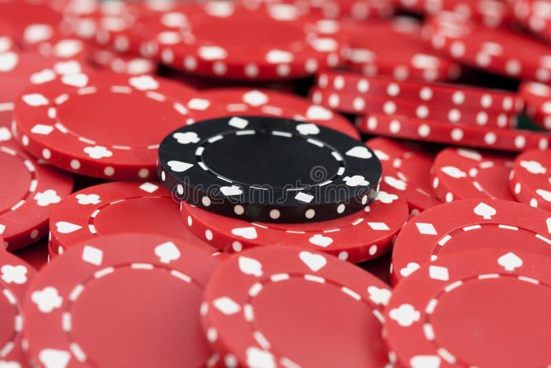 Puces, rouge et noir de casino photos libres de droits
