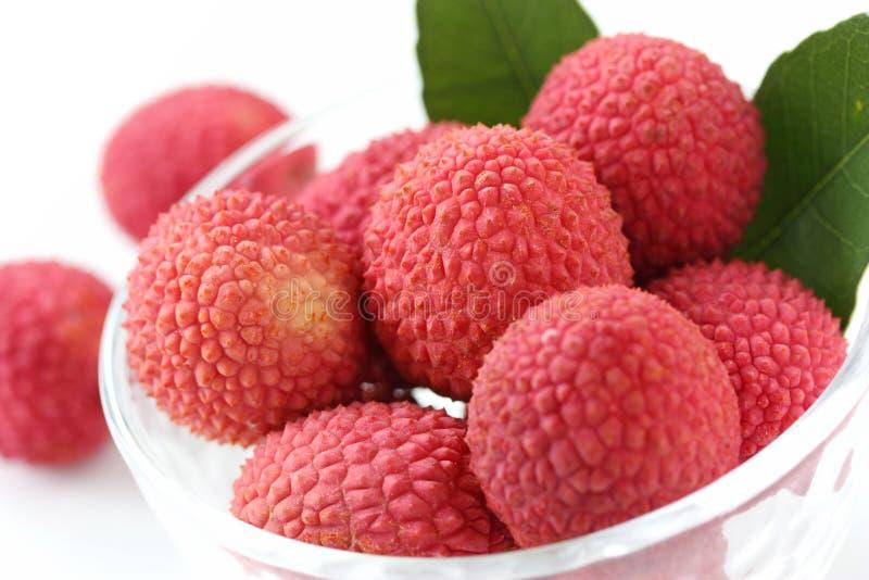 pucharów lychees świezi szklani zdjęcia stock