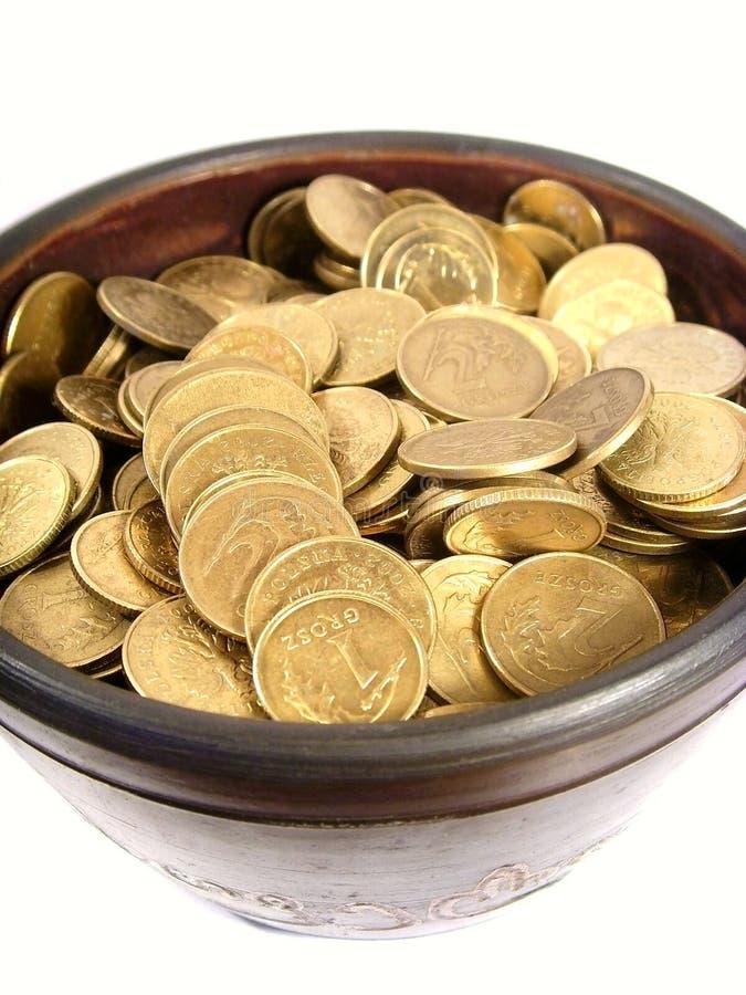 puchar antyczne monety obraz royalty free