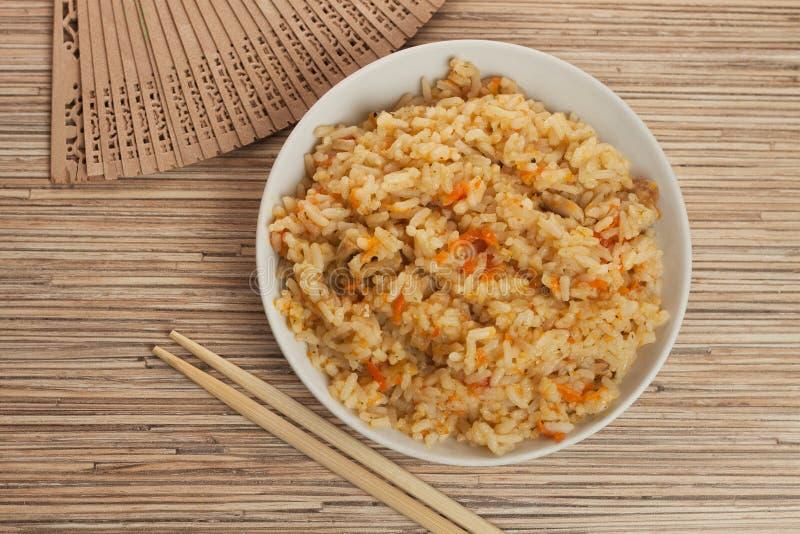 puchar gotujący ryż fotografia royalty free