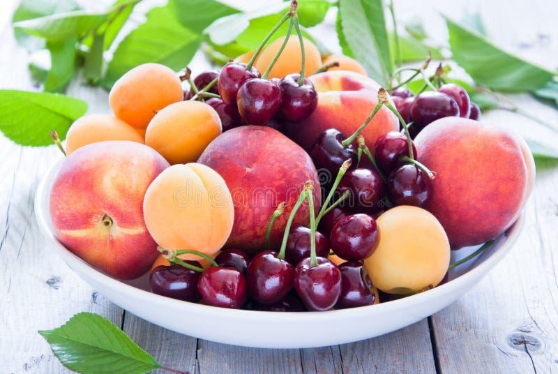 Puchar mieszane owoc i jagody fotografia stock
