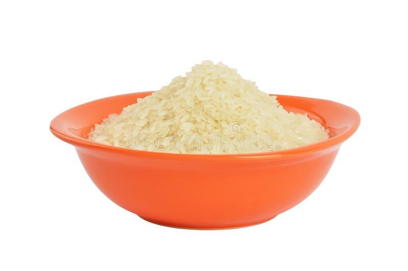 Puchar ryż z ścinek ścieżką obraz stock