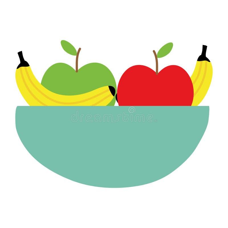 Puchar z owoc sałatką zdrową ilustracja wektor