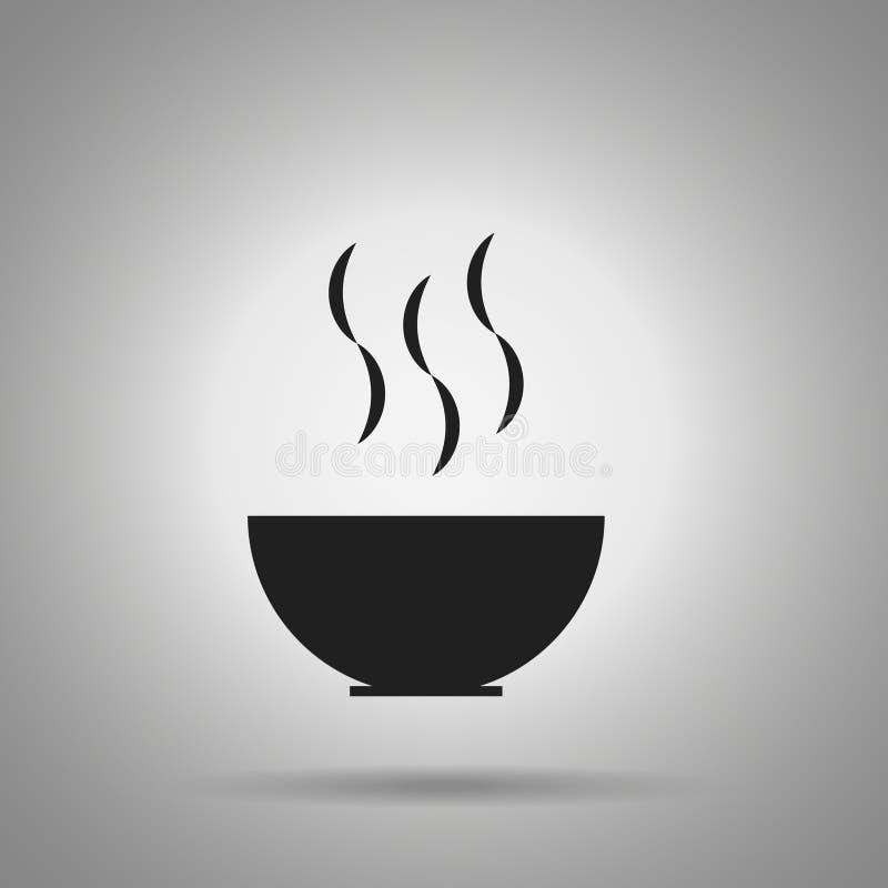 Puchar z zupną ikoną ilustracja wektor