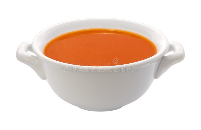 pucharu ścinku ścieżki polewki pomidor zdjęcia royalty free