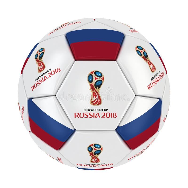 Pucharu Świata Rosja 2018 piłka zdjęcie royalty free