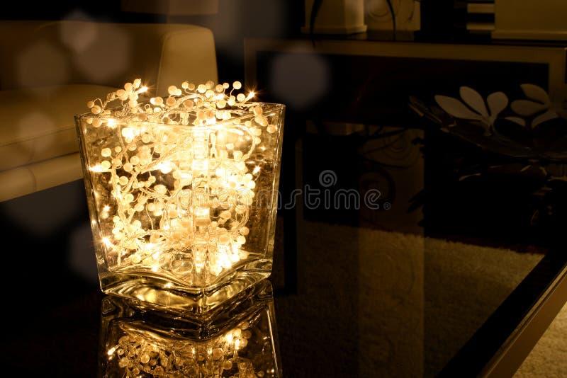 Pucharu Bożonarodzeniowe światła Obrazy Royalty Free