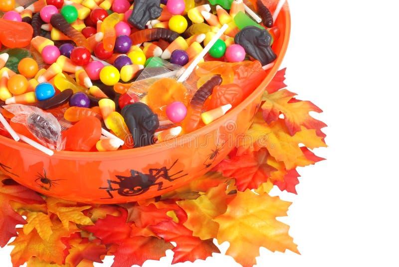 pucharu cukierku Halloween odgórny widok fotografia stock