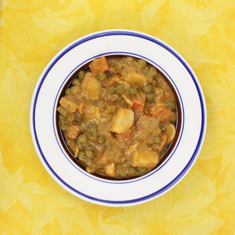 pucharu curry mieszający kumberlandu warzywo obraz stock