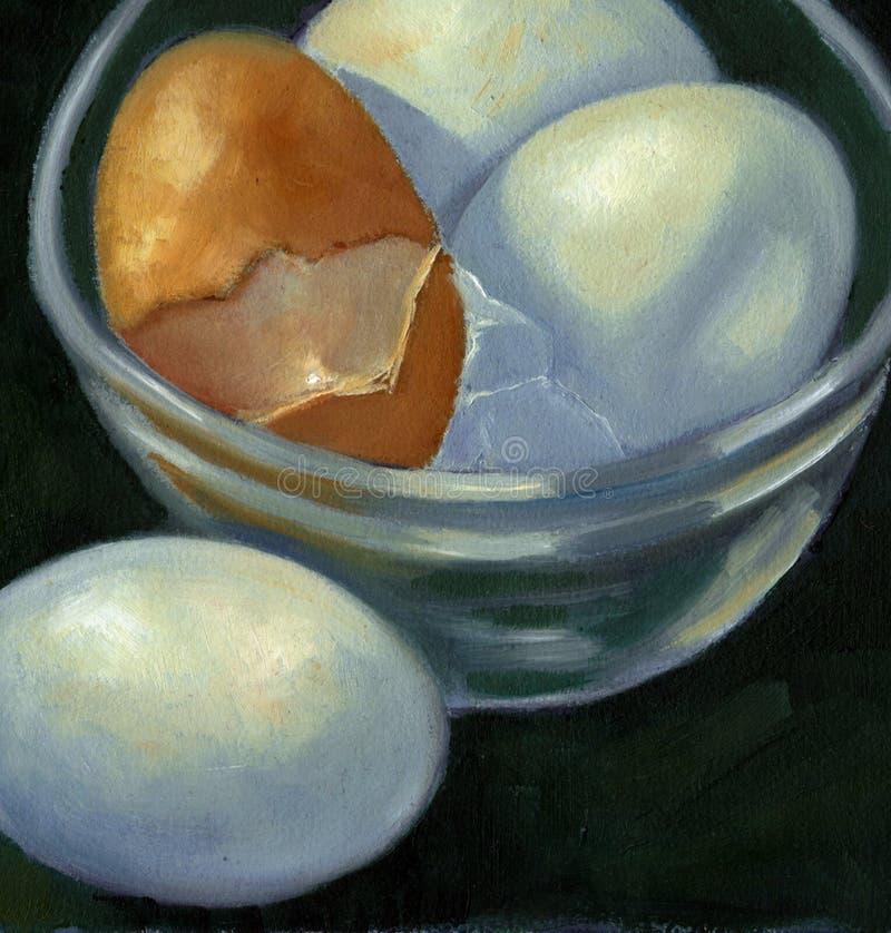 pucharu jajek szklany obraz ilustracji