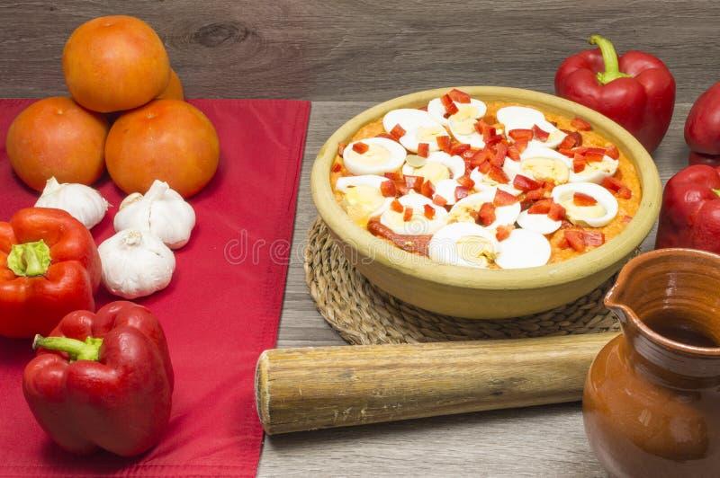 pucharu warzywo zupny pomidorowy obraz stock