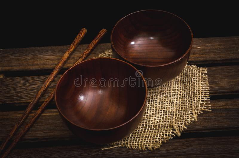 puchary drewniani dwa obrazy royalty free