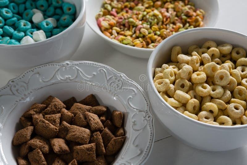 Puchary różnorodny śniadanie fotografia royalty free