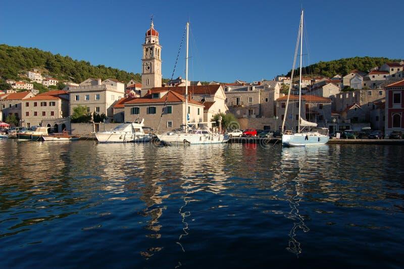 Pucisca - il Croatia fotografie stock libere da diritti