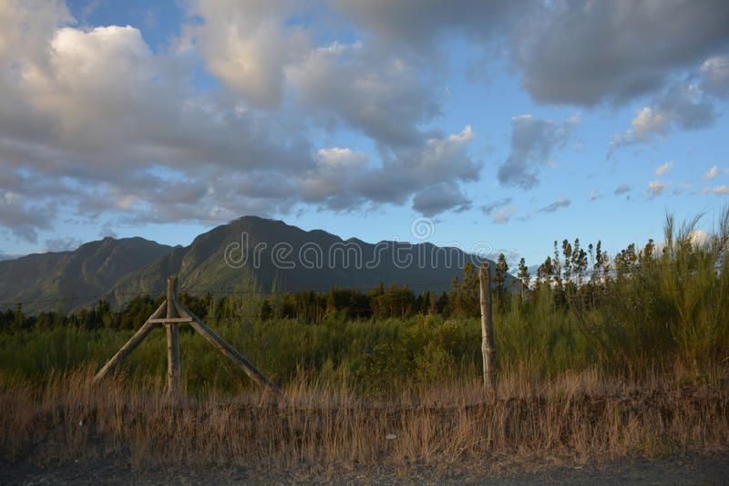 Pucon sky on a summer afternoon chile royalty free stock photography