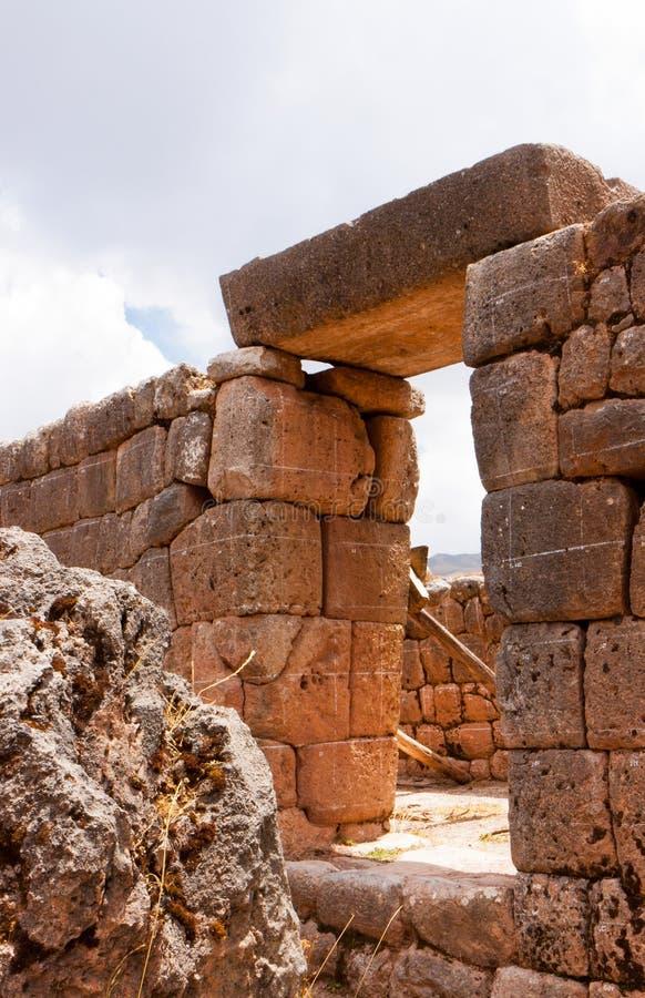 Pucy Pucara wojskowego ruiny przy Cusco, Peru fotografia stock
