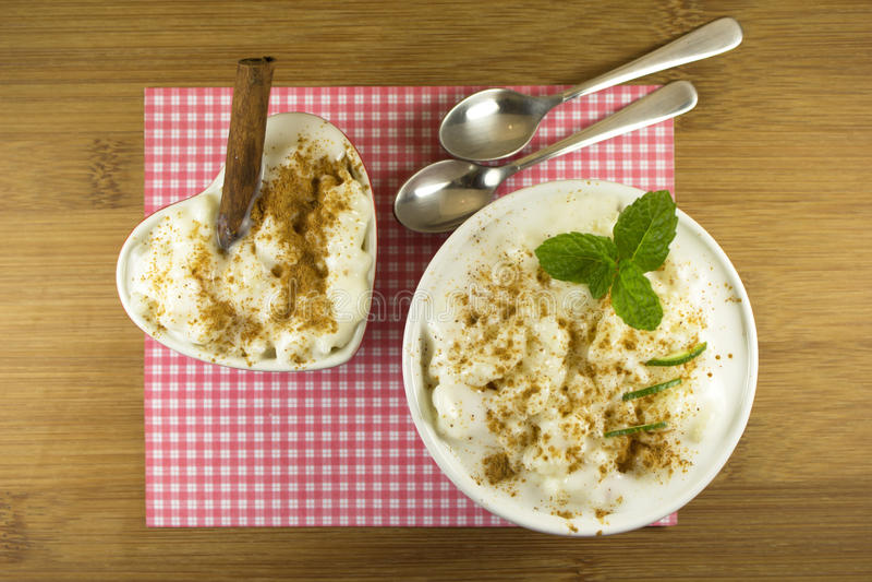 Pudín de arroz fotos de archivo