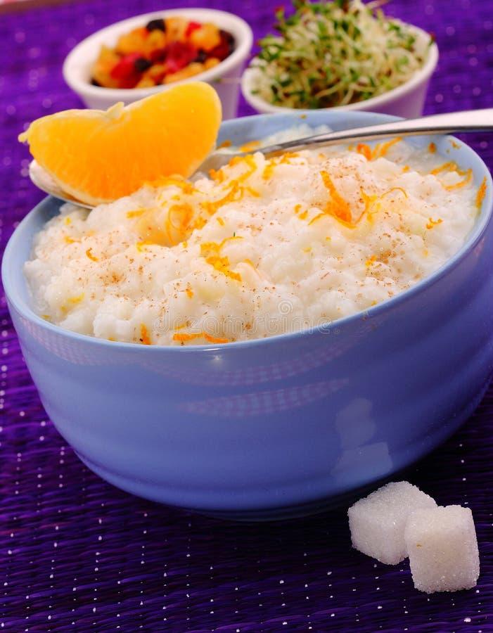 Pudín de arroz cremoso foto de archivo libre de regalías