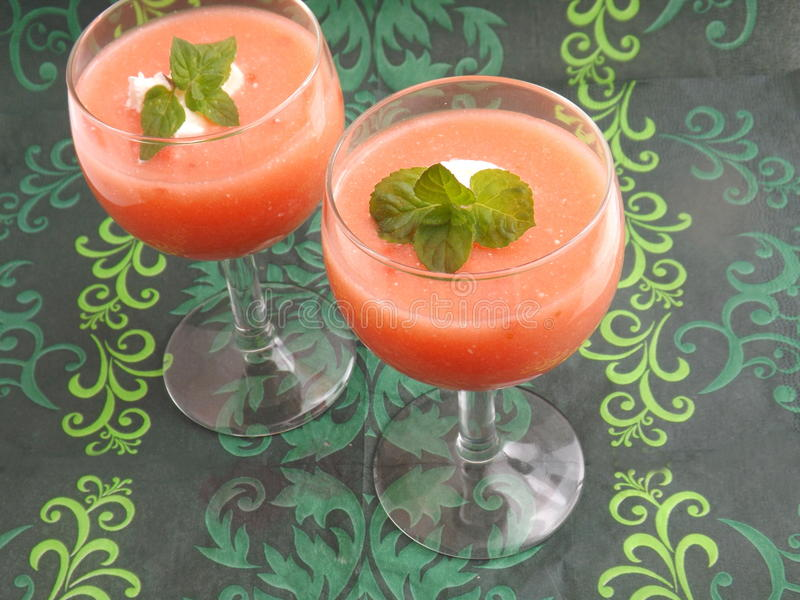 Download Pudín de fresas imagen de archivo. Imagen de postres - 41907095